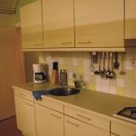 De keuken in het vakantiehuisje